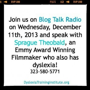 Join us as we speak with Sprague Theobald on Blog Talk Radio on Wednesday December 11th 2013