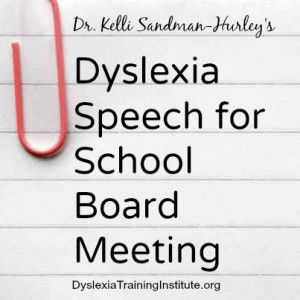 Dyslexia Speech for School Board Meeting