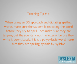 Teaching Tip 4 -Teaching Students with Dyslexia - Dyslexia Training Institute