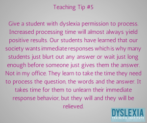 Teaching Tip 5 - Teaching Students with Dyslexia - Dyslexia Training Institute