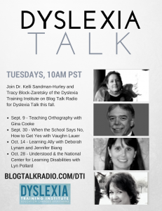 Dyslexia Talk with DTI - Fall 2014