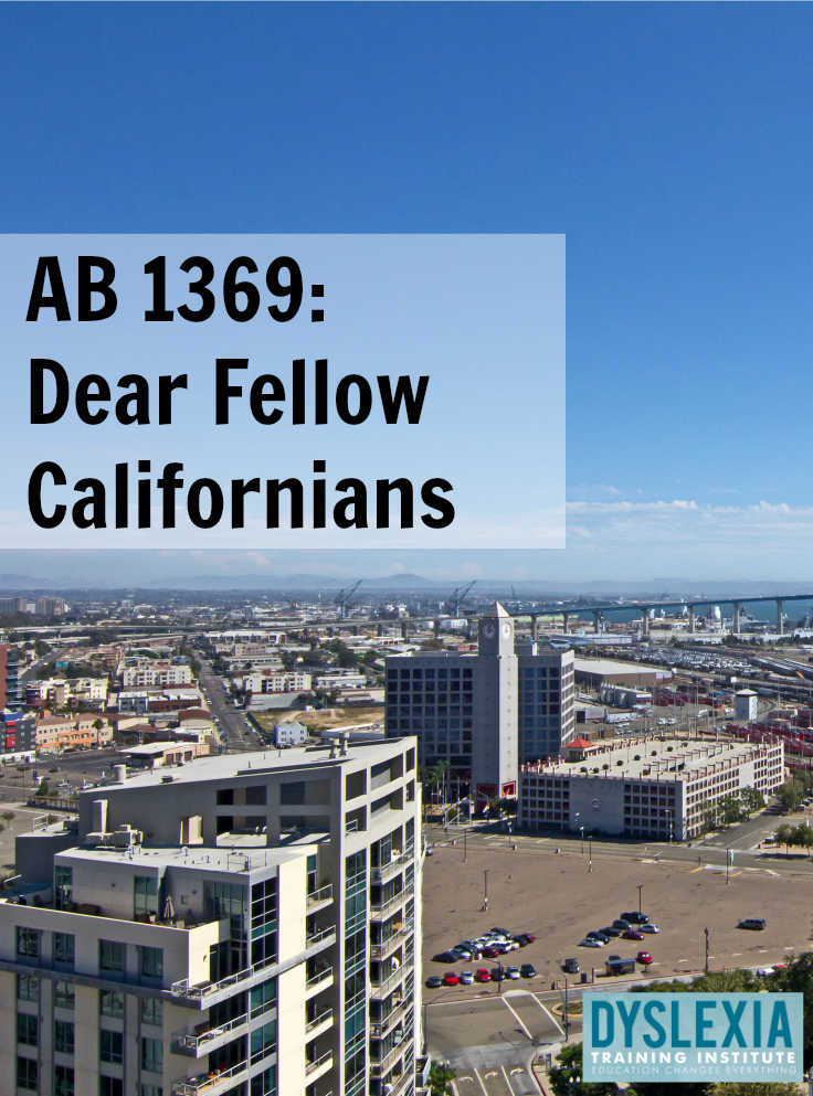 AB 1369 - Dear Fellow Californians