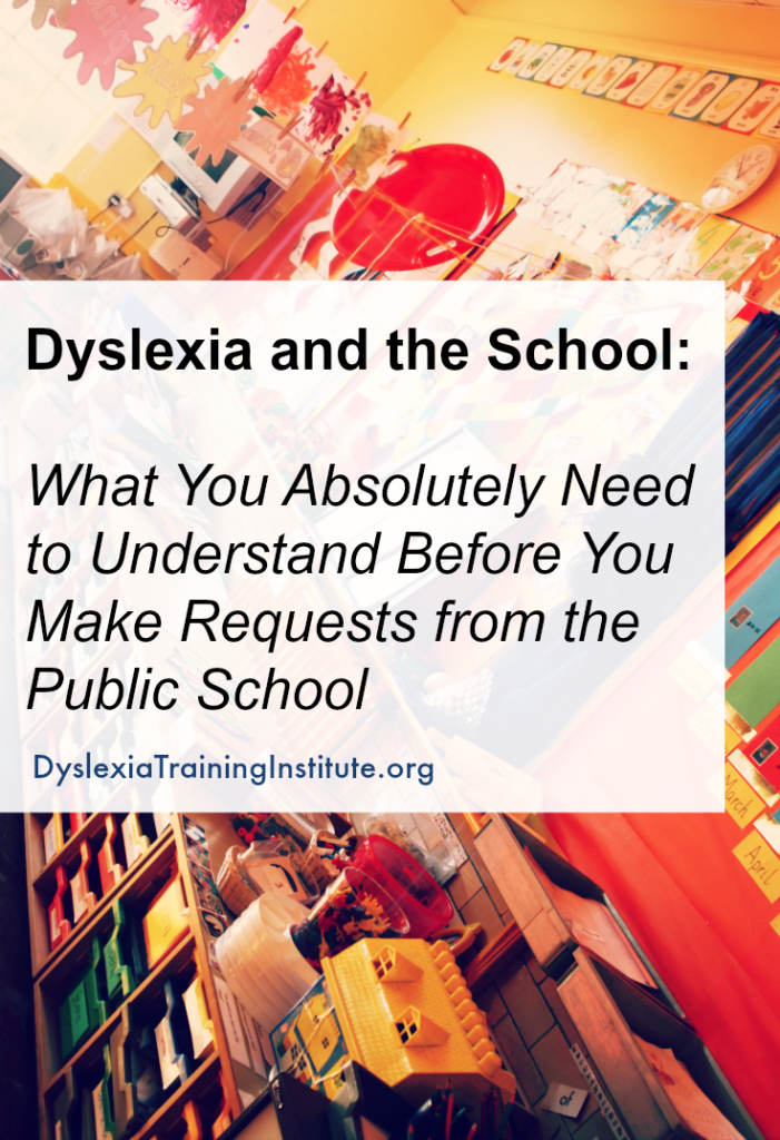 Dyslexia and the School by Dr. Kelli Sandman-Hurley - DyslexiaTrainingInstitute.org